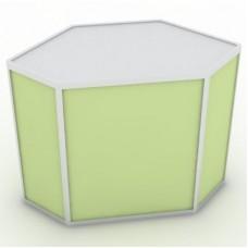Угловая витрина 90x80